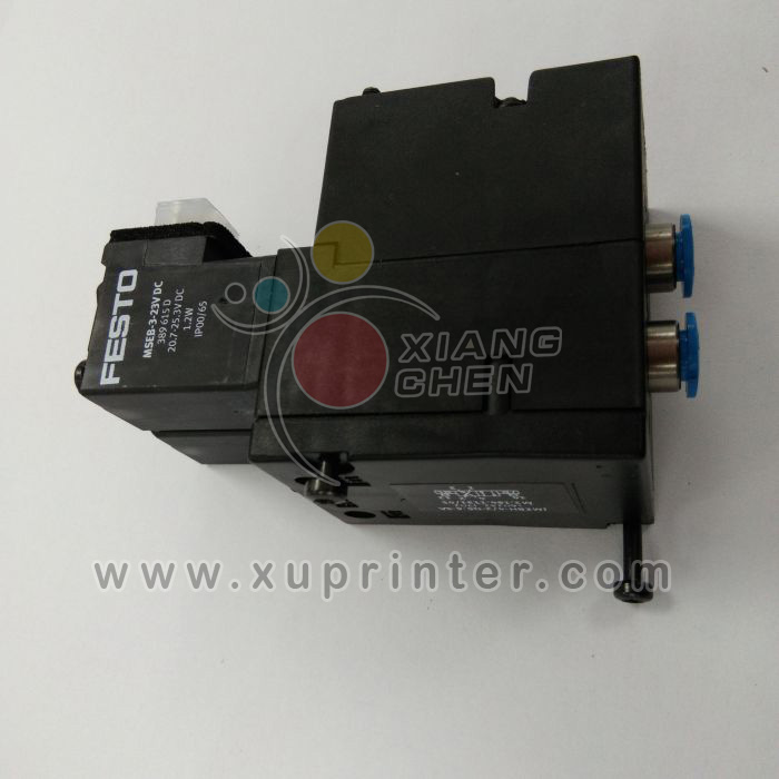 Heidelberg Solenoid 4-2 Way Valve - 4mm Push Fits, M2.184.1111, Heidelberg Pneumatic, Heidelberg Press Parts