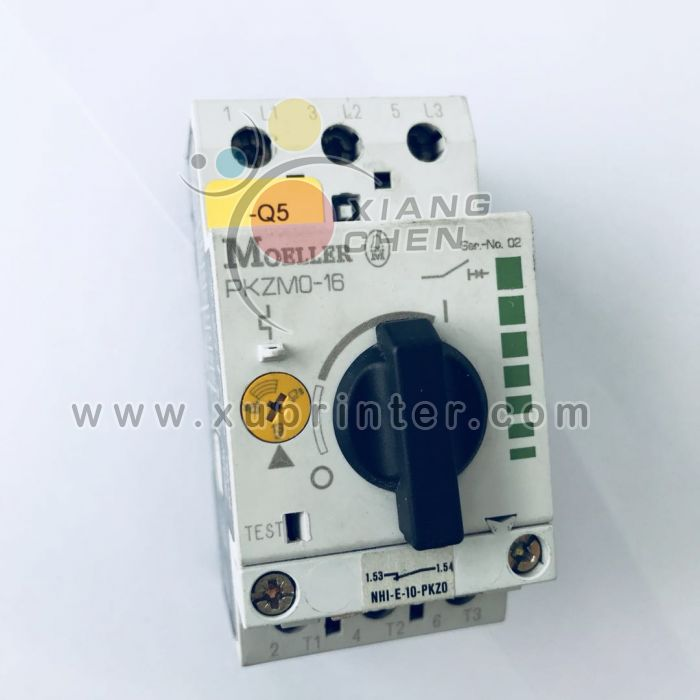 Heidelberg  Switch, Moeller PKZMO-16, Thermal Magnetic Circuit Breaker, Heidelberg offset machinery part